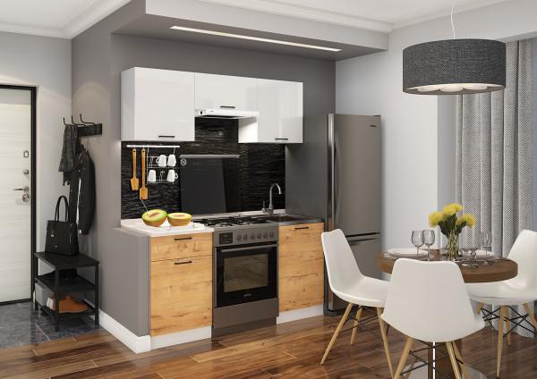 Готовый кухонный гарнитур Дуся 1,6 м