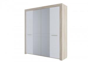 Шкаф для платья и белья четырехстворчатый Лагуна 6