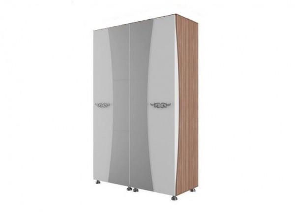 Шкаф для платья и белья четырехстворчатый Лагуна 7