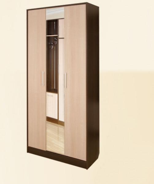Шкаф трехстворчатый с зеркалом секция 10 Диана-4