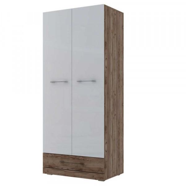 Шкаф двухстворчатый комбинированный Ницца