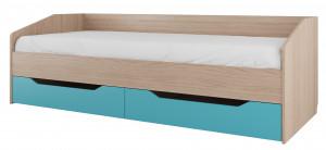Кровать одинарная с ящиками Сити 1